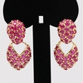 Unique Jewelry Full Lab-created Ruby Earring For Women Wedding Party Accessories E03-3