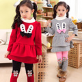 V-TREE Fashion winter baby girls clothing set long sleeve shirt leggings fleece christmas costume for kids girls clothes sets