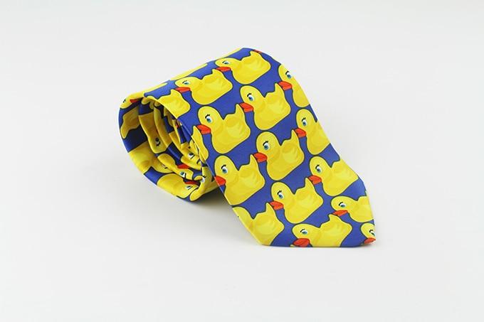 Желтая резиновая утка галстук мужской Модный повседневный необычный Ducky Профессиональный галстук четыре размера Галстуки
