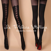 Le Palais Vintage Novelty High Qaulity Vintage Elegant Tights Sexy Pantyhose Fake Boots Fashion Stockings Women Famous Brand