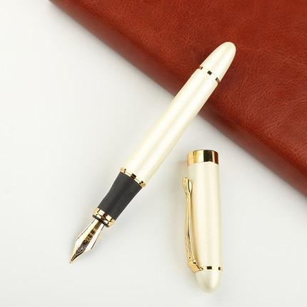 все цены на 0.5 mm standard High quality Iraurita Fountain pen Full metal Golden Clip luxury pens Caneta Stationery Office school supplies