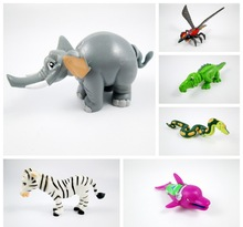5 pieces DIY remove the children assembled block animal elephant snake crocodile doll plastic toys toy can be installed randomly