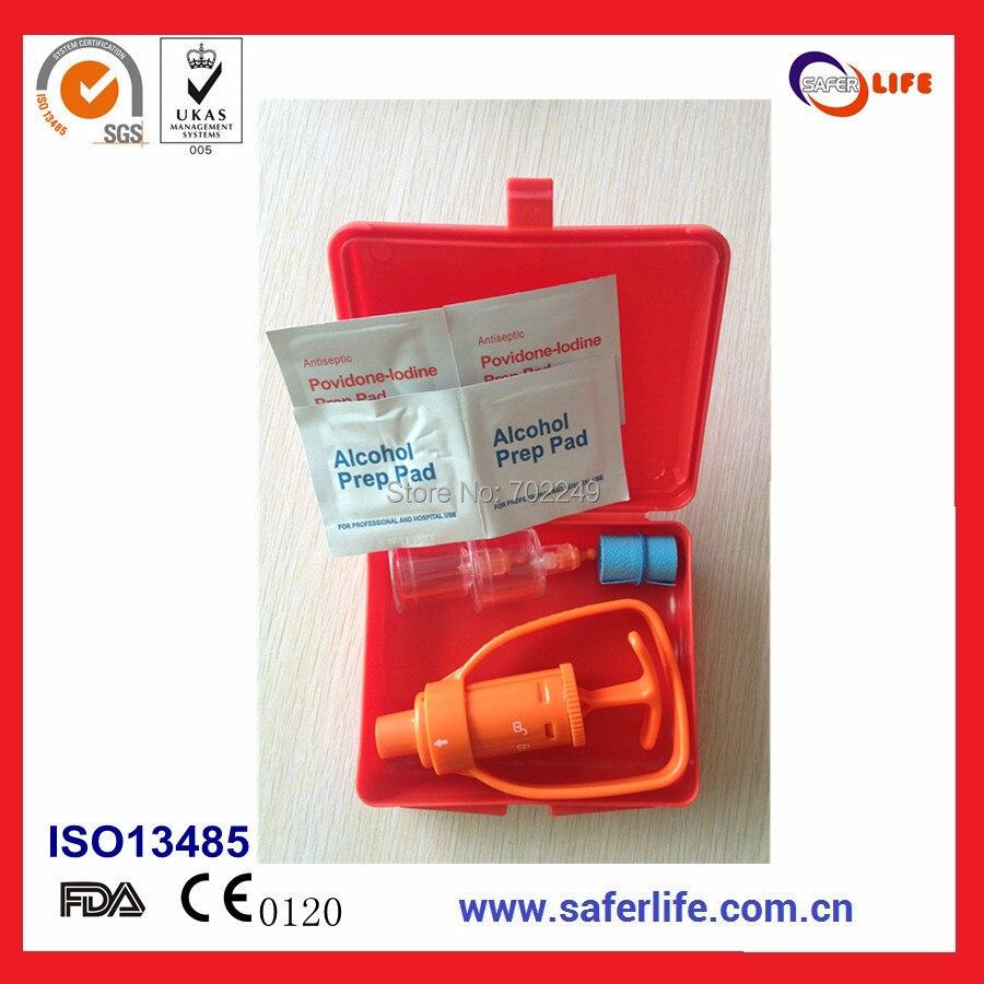 10sets 응급 처치 용품 여행용 안전 장비 용 흡착제 진공 펌프 독성 프로텍터 뱀 물린 독 추출기