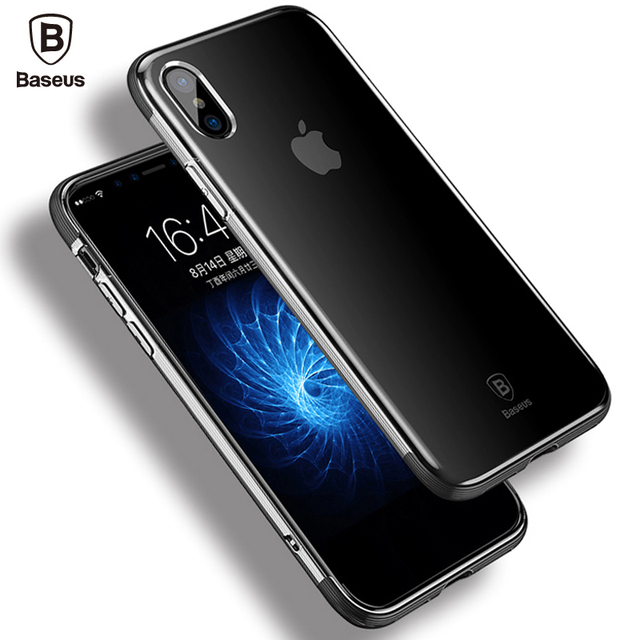 Baseus iPhone X Luxury Soft TPU Silicone Shockproof Armor Back Case Cover