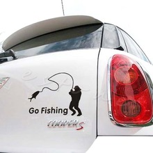 B86 Free Shipping Funny Styling Car Stickers Go Fishing Outdoor for Accessories Decoration NEW
