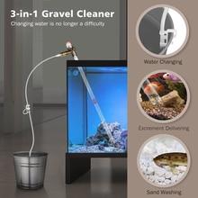 NCFAQUA Quick Release аквариум вакуумный сифон гравий очиститель Fish Tank Drainer фильтр для воды промыватель песка с воздухом-нажатие кнопки