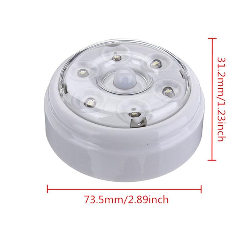 DC3-6V 6 LED Wireless Infrared PIR Auto Sensor Motion Detector - Night Lights