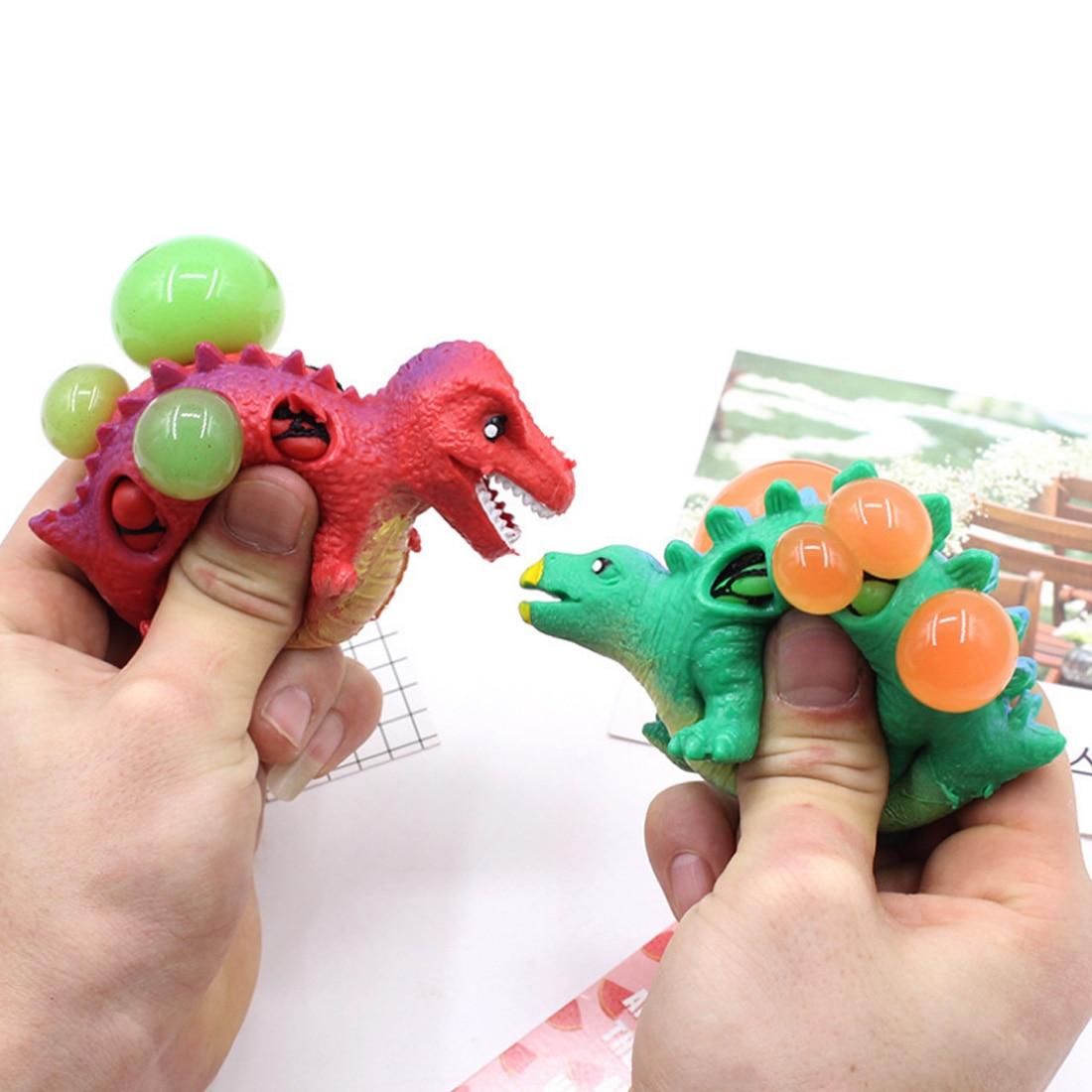 Dropshipping Dinosaurier Squishy Mesh Ball Trauben Squeeze Spielzeug Relief Zappeln Autismus Stress Spielzeug Anti Stress Dinosaurier Spielzeug Stressabbau-spielzeug