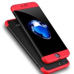 3 en 1 Hybride Dur PC 360 Complet Téléphone étui pour iphone 7 6 s 6 8plus 7plus 8plus XS Max XR Luxe Coque robuste de protection intégrale Coque