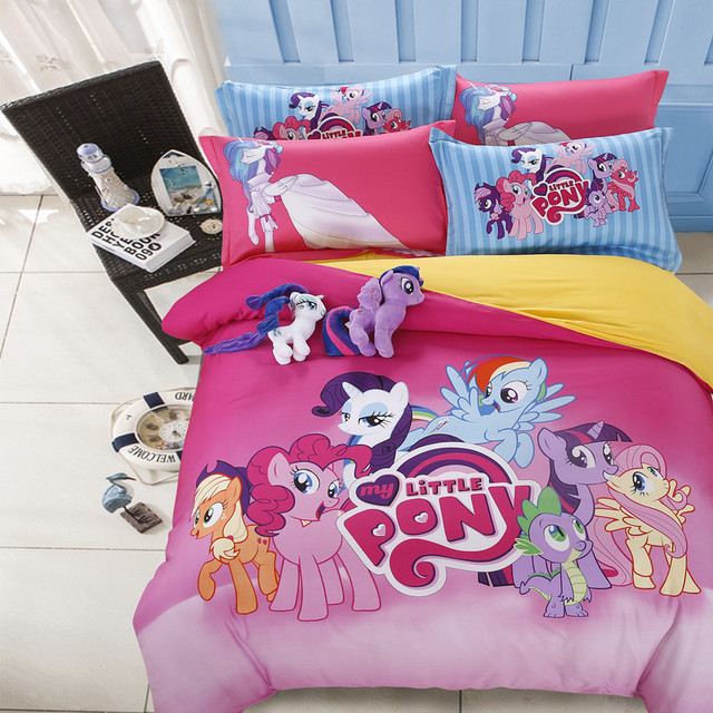 Free Shipping 100% Pure Cotton Twin Queen Full Size My Little Pony Bedding  Set