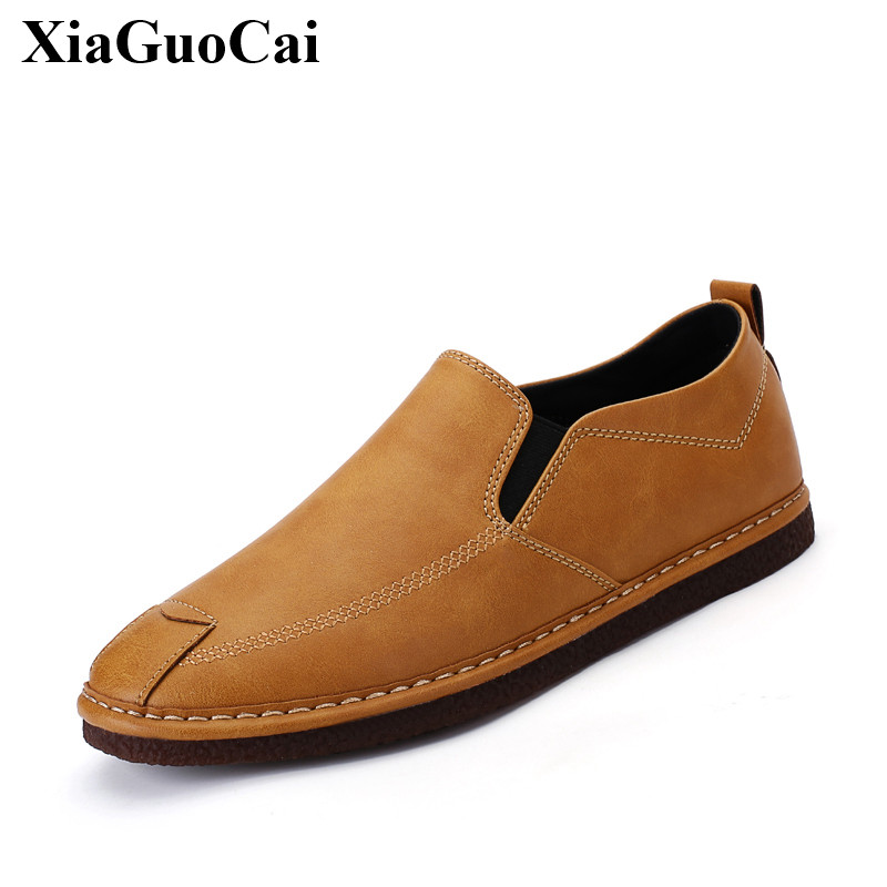 New Summer Casual Shoes Men Loafers Fashion Moccasin-gommino Leather Retro Slip-on Flats Driving Footwear of Male H206 35 farvarwo genuine leather alligator crocodile shoes luxury men brand new fashion driving shoes men s casual flats slip on loafers