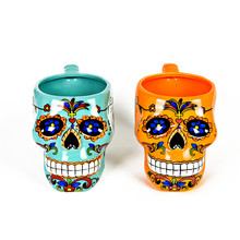 Personality Skull Ceramic Mug Cup Dream-seeking Travel COCO Creative Coffee Cup Couples Cup Big Capacity 800ml For Gifts(China)