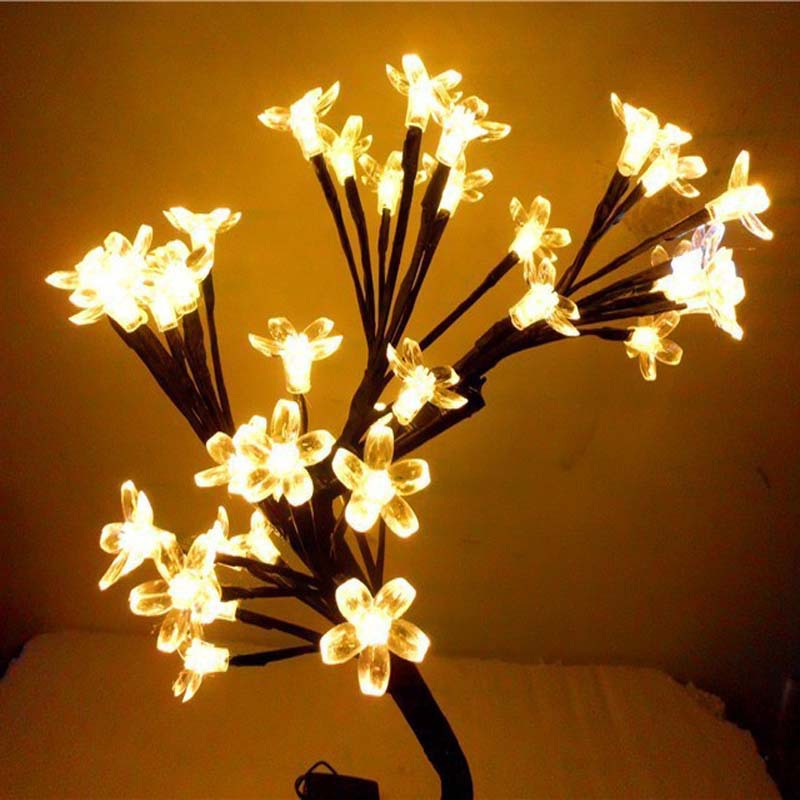 Aliexpress.com : Buy LED Crystal Cherry Blossom Tree Christmas Desk Table  Lamps Night Lights New Year Wedding Luminarias Decoration Indoor Lighting  From ...