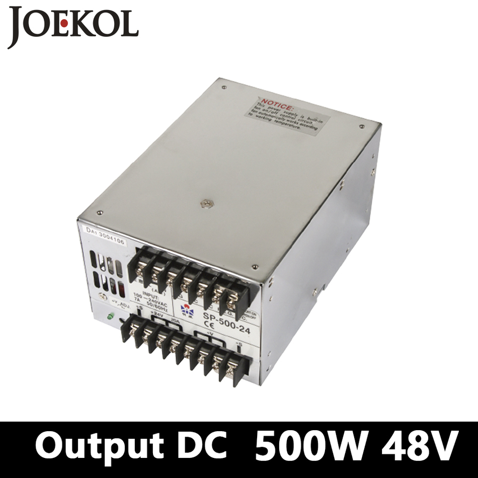PFC Switching Power Supply 500W 48v 10.4A,Single Output Industrial-grade Power Supply,AC110V/220V Transformer To DC 48 sp 500 48 pfc switching power supply 500w 48v 10 4a single output industrial grade power supply ac110v 220v transformer to dc 48