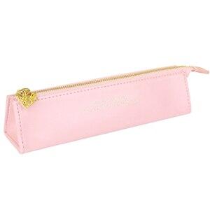 Image 5 - Asla pembe serisi PU deri kalem kutusu kalem çantası kalem çantası için bayanlar iş ofis masa düzenleyici hediye ambalaj kırtasiye