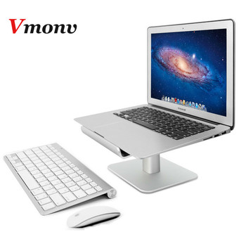 Vmonv Aluminum Tablet Laptop Holder Stand for Macbook 11 12 13 15 Inch Notebook Adjustable Increase Height Laptop Cooling Stand