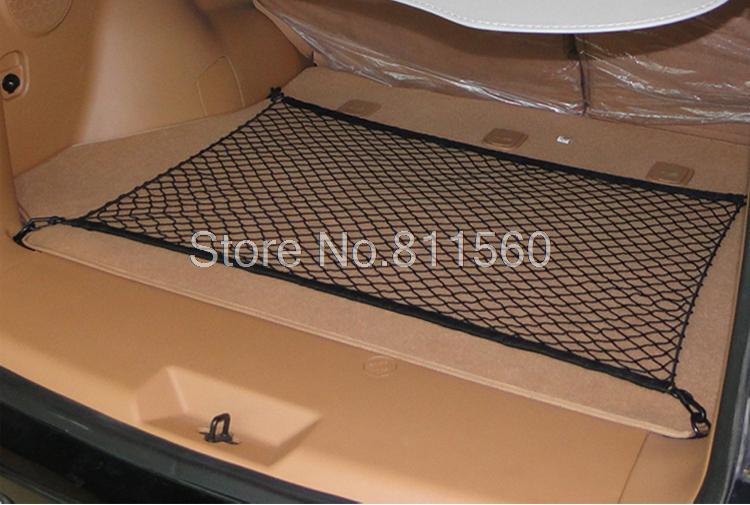 Fit Für Kia Sorento 2003 ~ 2012 SCHWARZ NYLON HINTEREN KOFFER CARGO MESH NET Rückseiten-stamm-panel Boden Elastische Mesh-ladung-netz 1 stücke