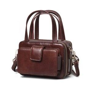 Image 4 - Cobbler Legend женские сумки из натуральной кожи на двойной молнии сумки для женщин 2019 знаменитые бренды дизайнерские сумки через плечо винтажные