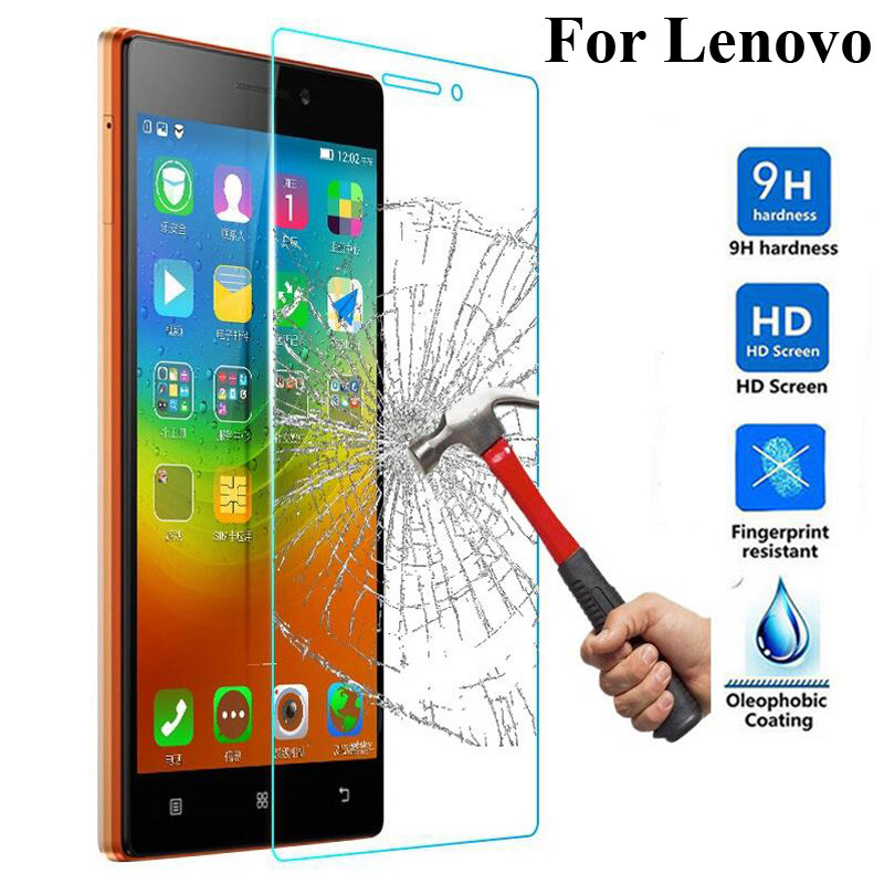 2pcs Tempered Glass For Lenovo VIBE Shot Z90 Zuk Z1 S60 Vibe P1 P1m A7000 A7010 Explosion-proof Protective Film Screen Protector