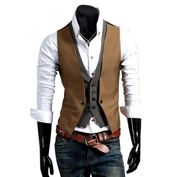 Aliexpress.com : Buy 2015 Hot Sale Men Fake Two piece Suit Vests ...