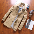 2016 autumn new men's casual windbreaker jacket long section of young men jacket fashion Slim thin section