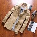 2016 otoño nuevos hombres de la moda chaqueta larga sección de la chaqueta cazadora informal de los hombres jóvenes Delgado sección delgada