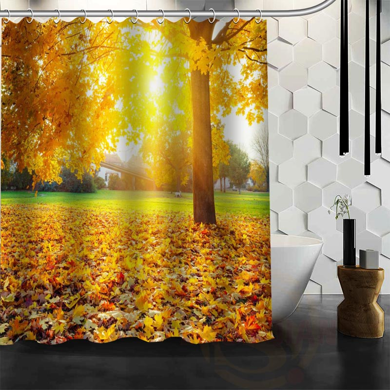 Best Nice Custom Forests Autumn Shower Curtain Bath Curtain ...