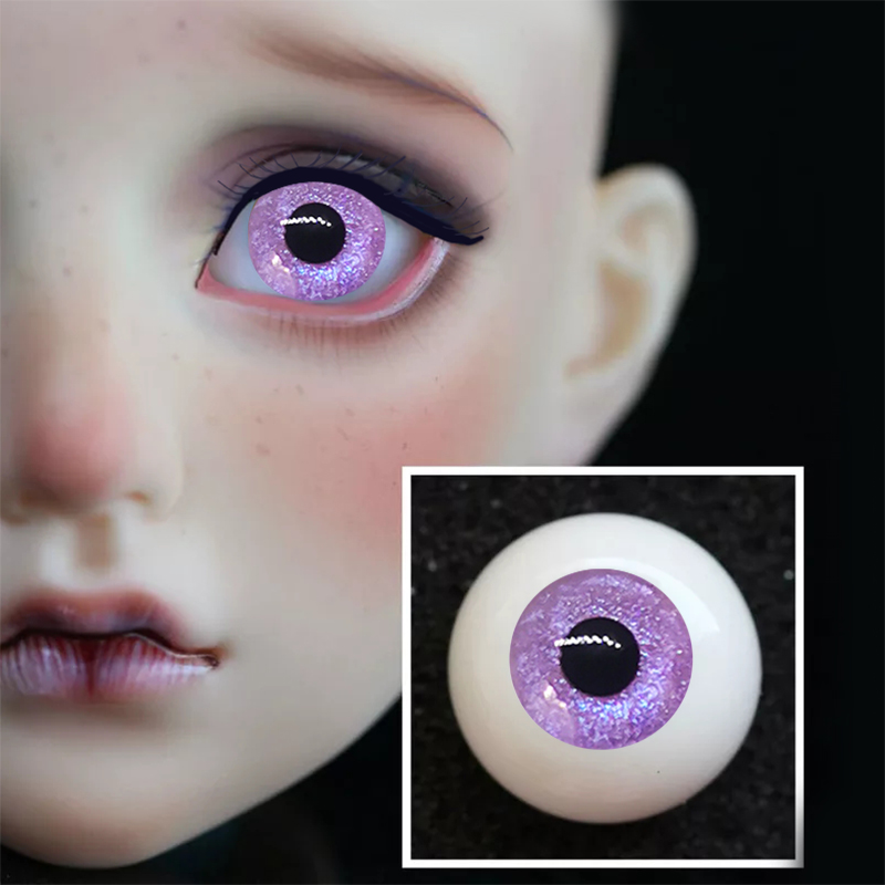1 Pair DIY Acrylic BJD Eyes color changing purple gradient starry 14mm 16mm 18mm 20mm 22m painting sd BJD Eyes 1 3 1 4 1 6 doll in Dolls Accessories from Toys Hobbies