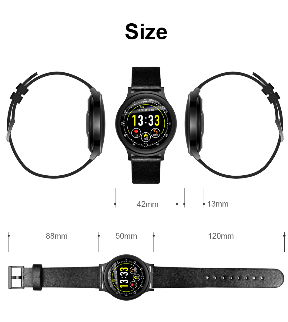 Q28 Smart Watch IP67 Waterproof Wearable Device Bluetooth Pedometer Heart Rate Monitor Men Fashion SmartWatch For AndroidIOS (15)