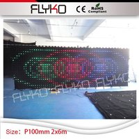 Party Decoration Event & Party Wedding Occasion stage background P100mm video curtain decoration 2*6m