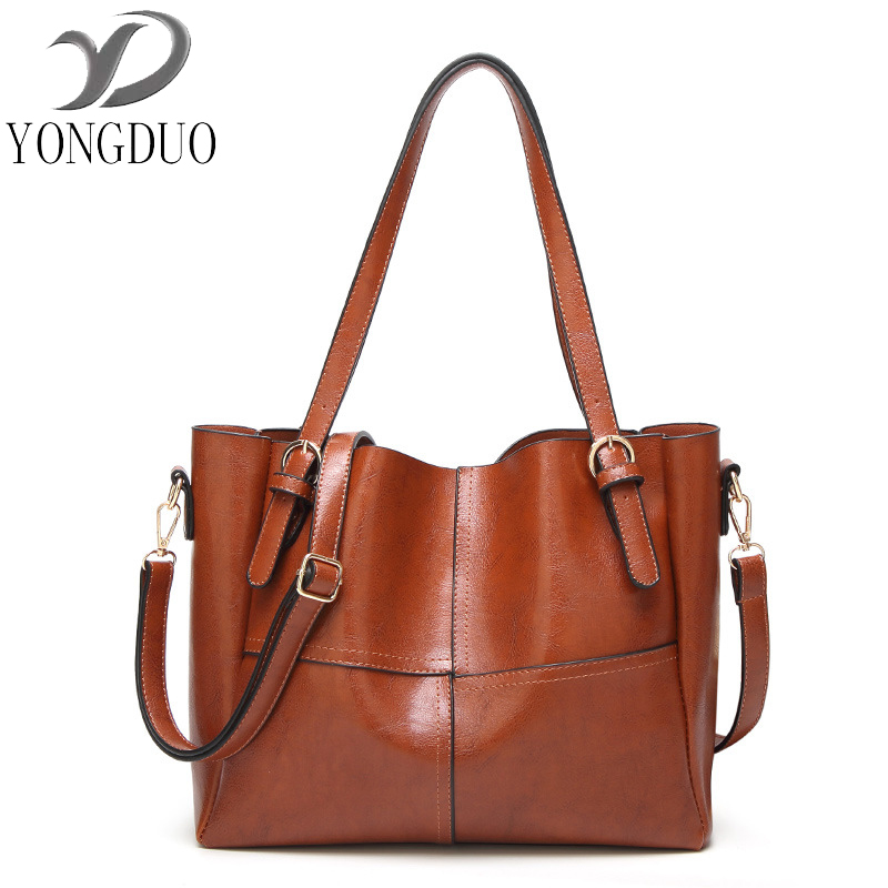 YONGDUO 2017 Lady Top-handle bags handbags women famous brands female Stitching casual Big shoulder bag Tote for girls tuladuo new lady shoulder bags women famous brands handbags female embroidery casual big crossbody bag tote for girls sac a main