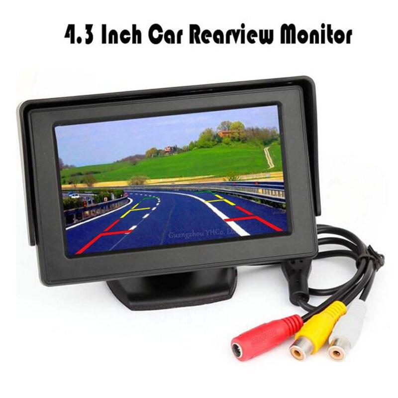 imágenes para 4.3 Pulgadas TFT LCD Monitor de Pantalla de la Pantalla de Visualización 800*480 de Resolución Para Coche de Visión Trasera Cámara de Marcha Atrás de copia de seguridad/DVD