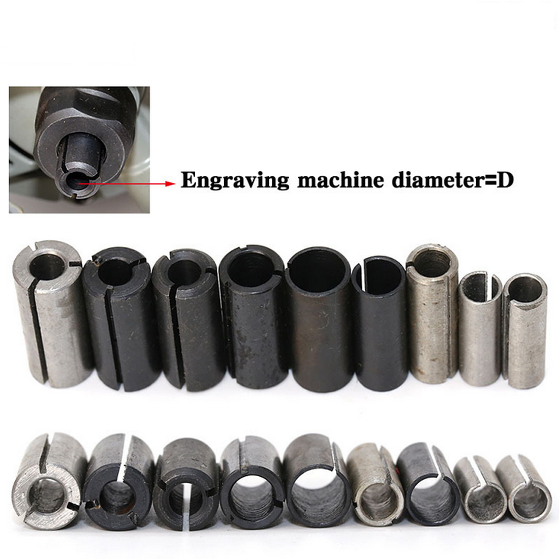 1 Pc High Precision Adapter Collet Shank Cnc Router Tool Adapters Holder Black For Rotary Tool