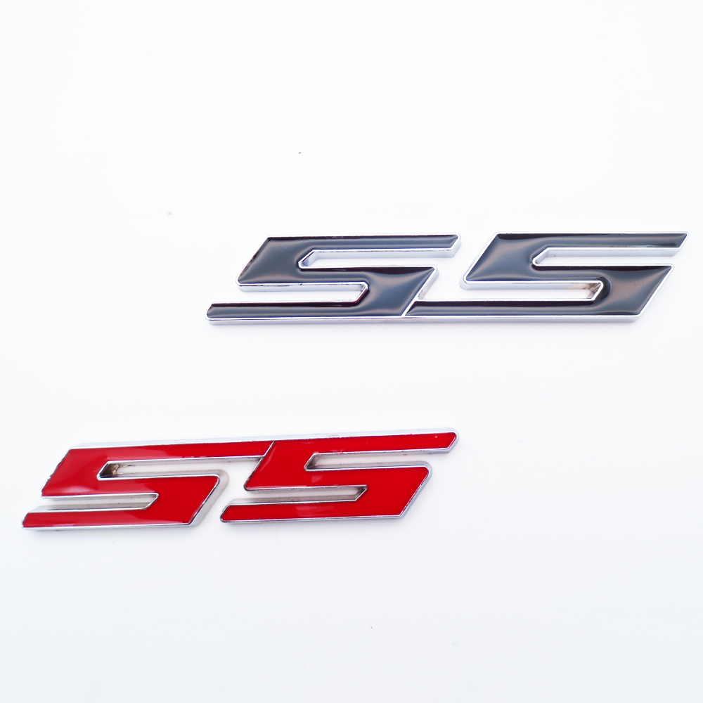 3d car ss metal badge emblem red black ss logo decal emblem sticker for chevrolet cruze