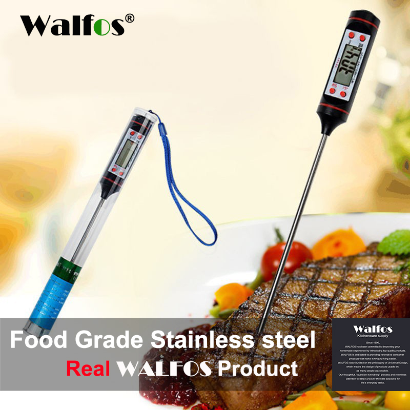 WALFOS Digital Probe oven Daging Thermometer Kitchen BBQ Makanan Thermometer Memasak Stainless Steel Lipat Probe Daging Turki