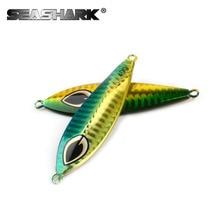 Slow Jig Lead Fish Lure 40g Metal Jigs 7CM Slow Jigging Lures 8 Color 1pcs/lot Salt Water Fishing Lures
