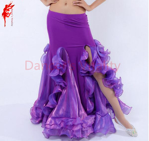 Image 3 - ホット販売! ベリーダンススカート女性ベリーダンススカート女の子ベリーダンスパフォーマンススカート9色女性ダンススカート