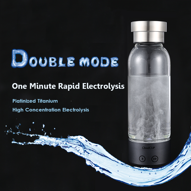 Hydrogen-Rich Water Cup Ionizer Generator Hydrogen Water Bottle Electrolysis Antioxidants ORP Energy Healthy Glass Cloud Cup new arrival hydrogen generator hydrogen rich water machine hydrogen generating maker water filters ionizer 2 0l 100 240v 5w hot
