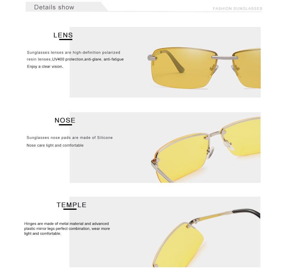 1708c89468 Gafas de sol polarizadas con montura para hombre gafas de sol lentes  amarillas de visión nocturna antideslumbrantes gafas de sol bloqueadoras