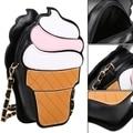 2017 High quality Brand Cute Cartoon Women Shoulder Bags Zipper Ice Cream Shape Women Shoulder Messenger Bags Bolsa Feminina