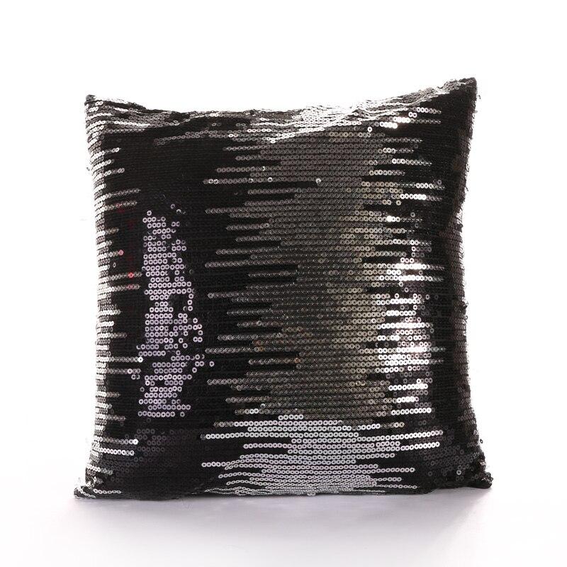 PANFELOU 45*45cm environmental black sequins meteor shower Cushion Cover for sofa livingroom bedroom