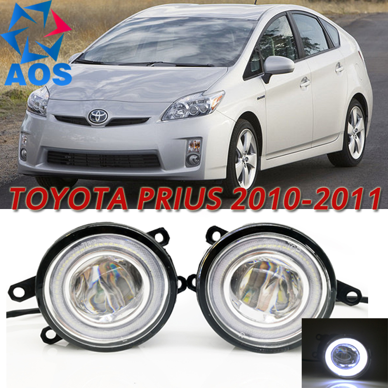 For Toyota Prius 2010-2011 Car Styling LED Angel eyes DRL LED Fog lights Car Daytime Running Lights auto fog lamp with bulbs set jgrt 2011 for nissan sentra fog lights led drl turnsignal lights car styling led daytime running lights led fog lamps