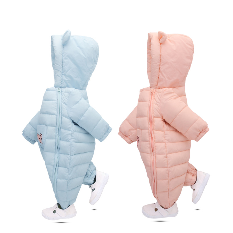 Baby Winter Romper Warm Thick Newborn Boy Girl Clothes Bear Cartoon Infant Baby Clothing Down Snowsuit Newborn Romper Outfits baby girl 1st birthday outfits short sleeve infant clothing sets lace romper dress headband shoe toddler tutu set baby s clothes