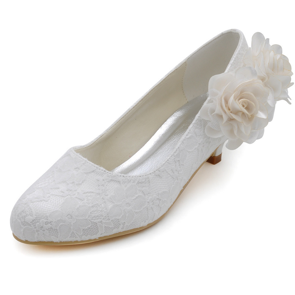 Aliexpress com   Buy Women Wedding Pumps EP2130 Round Toe Ivory Size 39  Lace Flower Low Heels Prom Bridal Shoes Woman Wedding Shoes from Reliable  bridal  Aliexpress com   Buy Women Wedding Pumps EP2130 Round Toe Ivory  . One Inch Heel Wedding Shoes. Home Design Ideas