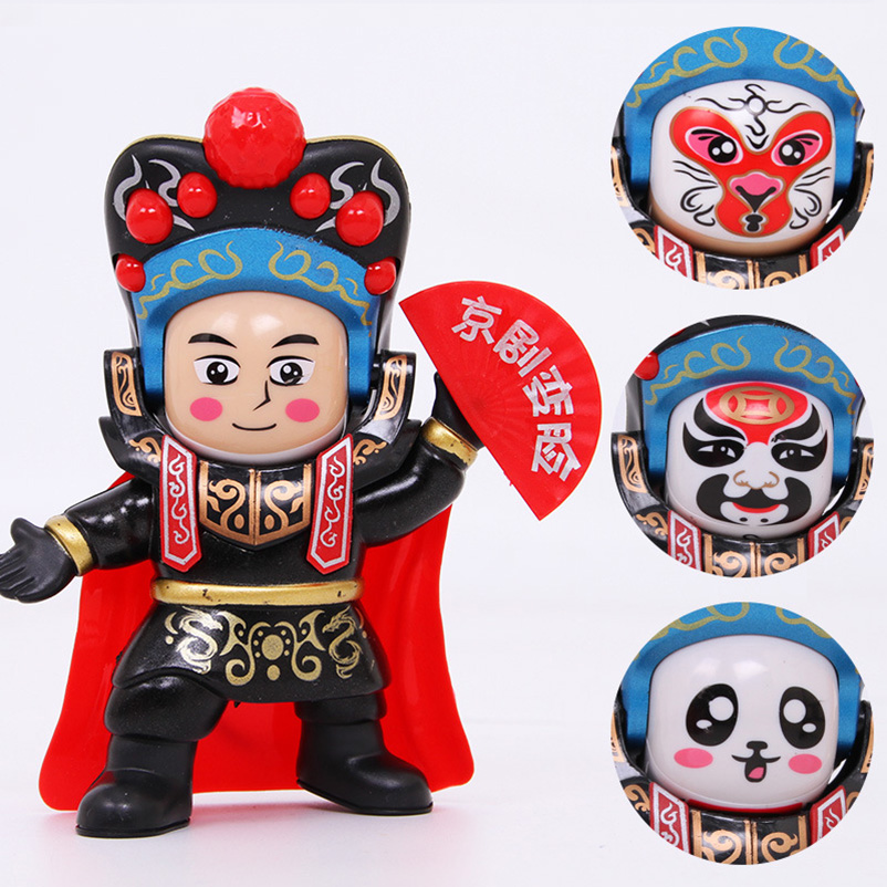 The Sichuan opera face changes doll toy Beijing opera three sides change face model desktop decoration special crafts in Magic Tricks from Toys Hobbies