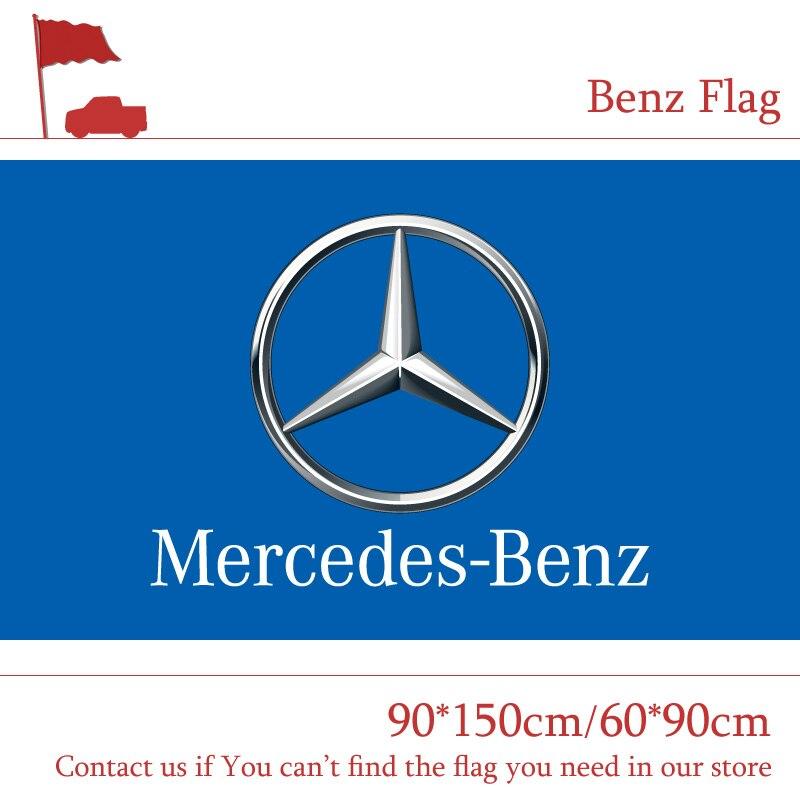 90*150 cm 60*90 cm Polyester Benz drapeau de voiture 3X5FT 90x150 cm Pour La Maison Bureau Partie bar Bannière