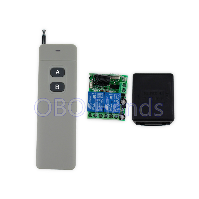 New arrival 315/433MHz 12V 2CH 50m wireless remote control switch with receiver+free shell for door lock control 2 doors-SB22 new design wireless ac220v remote control switch with manual button receiver for smart home 315 433mhz free shipping
