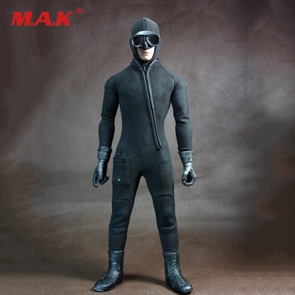 1/6 COD Diving Suit Jumpsuit & Shoes model for 12 inches Male Action Figure Clothes 1 6 bloodstain normal wolverine claw hands type model for 12 inches male action figure