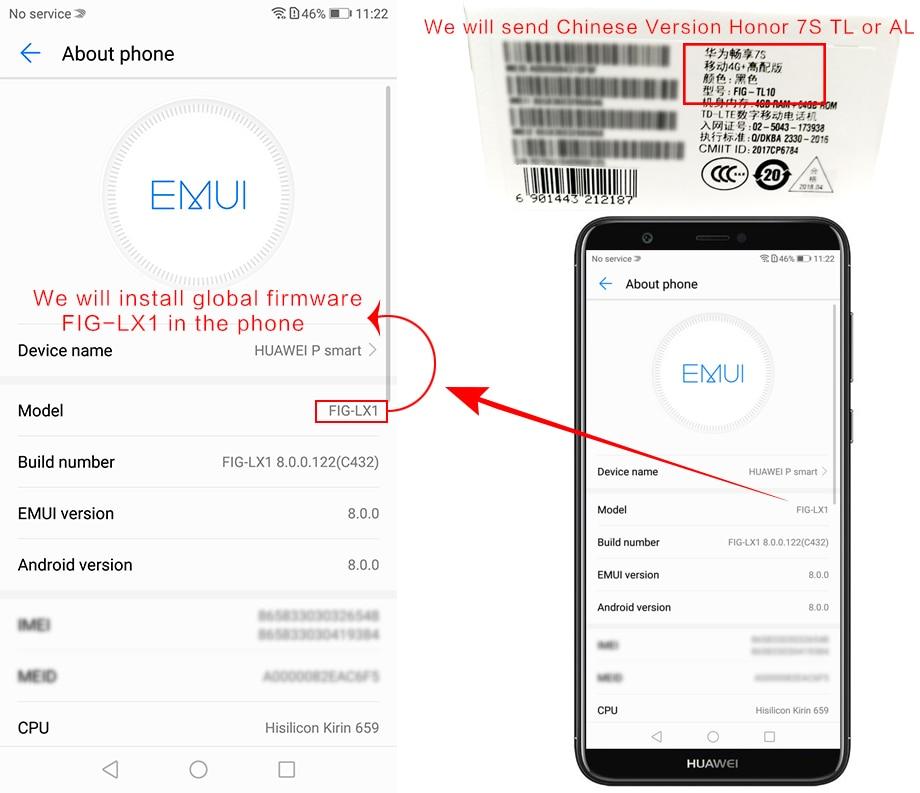 """Оригинальный HuaWei наслаждаться 7 s P смарт-4G LTE мобильный телефон Kirin 659 Android 8,0 2160 """"ips 5,65 X 4G 1080 B ram 6 4G B rom отпечатков пальцев"""
