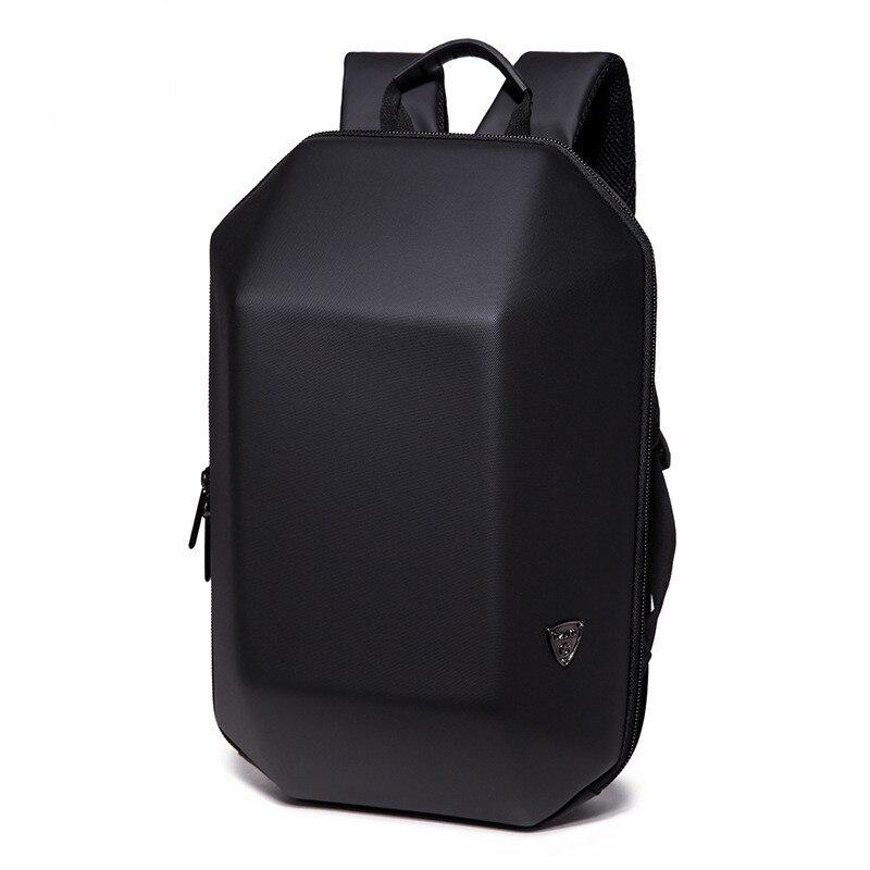 OZUKO Backpack Men Hard Shell Backpack Waterproof Anti Theft Travel Bags Black Creative Alien Casual Laptop Teenage School Boy bag